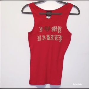 Harley red tank top